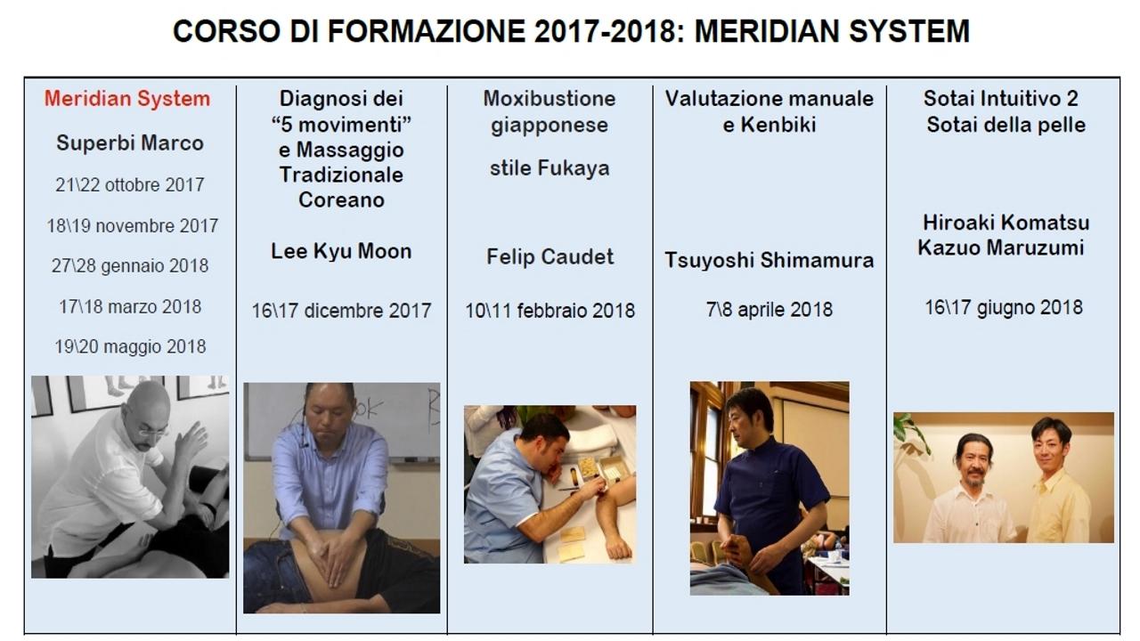 Meridian System - Corso di Formazione 2017 - 2018